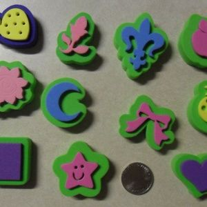Set of 11 New Assorted Jr Small Chunky Foam Stamps